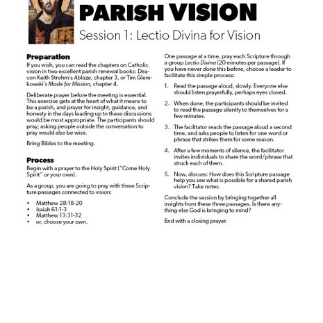Discerning Your Parish Vision2