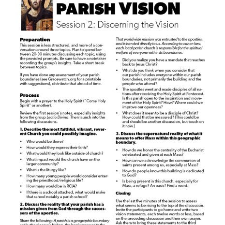 Discerning Your Parish Vision3