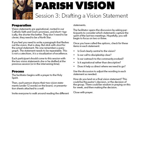 Discerning Your Parish Vision4